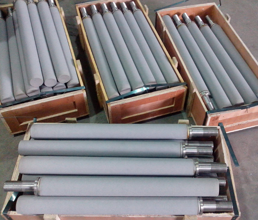 Customized Titanium Items Sintered Filtering Tube For Hydraulic Thickness 0.5-5 Mm